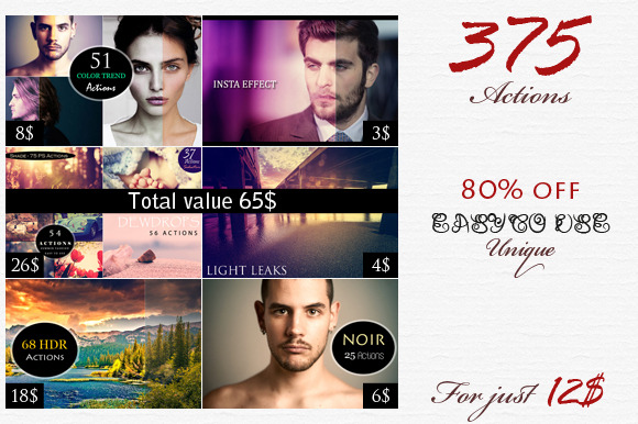 375 Actions Bundle
