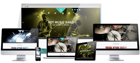 Hot Music Band For Joomla