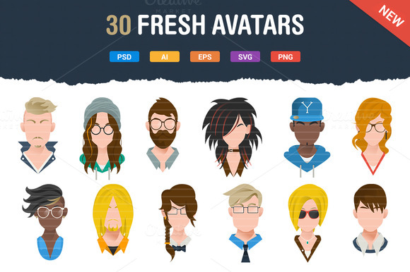 30 Fresh Modern Avatars