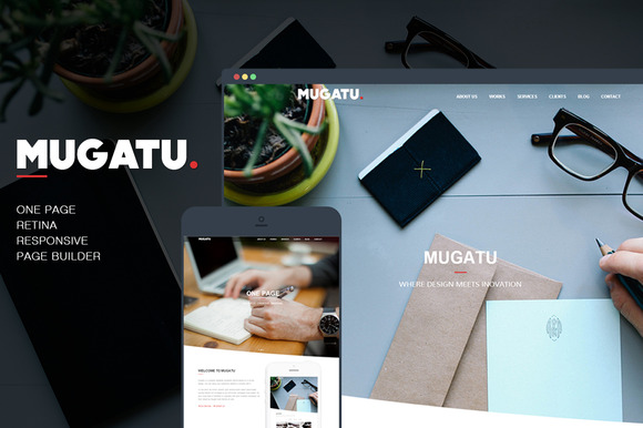 Mugatu One Page Wordpress Theme