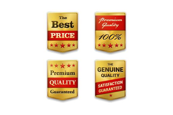 Golden Metal Badges Set