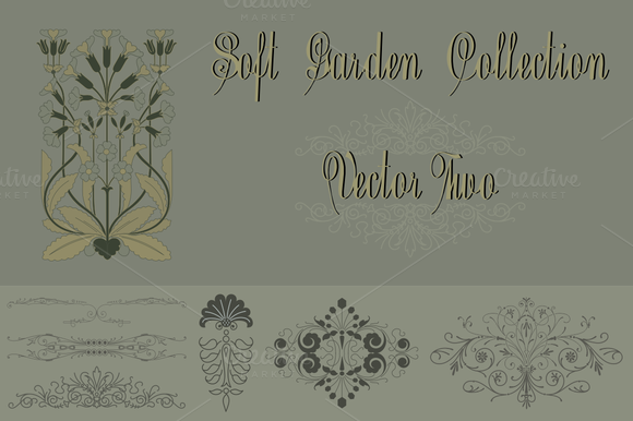 Soft Garden Collection Vector Two