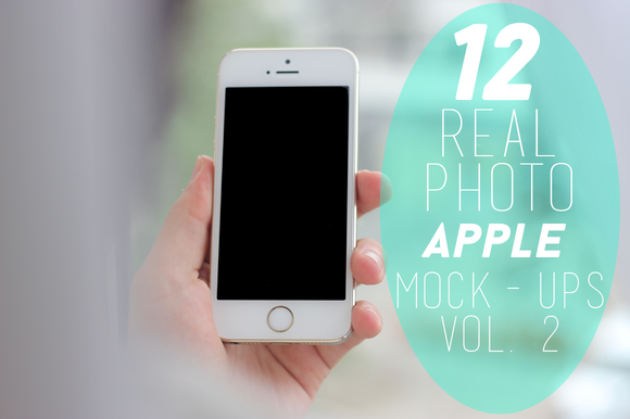 12 Real Photo Apple Mock-ups Vol 2