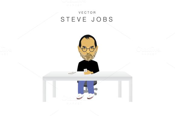 Vector Steve Jobs