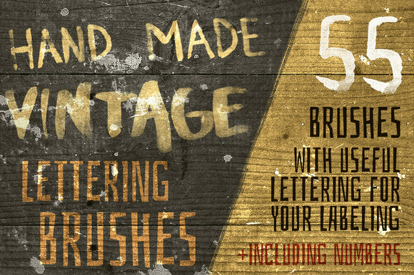 Hand-Made Vintage Lettering Brushes