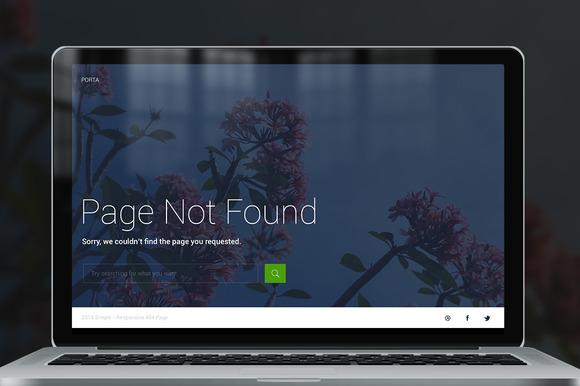 Porta 404 Responsive Error Page