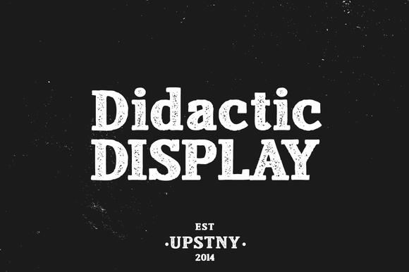 Didactic Display Textured Slab Serif