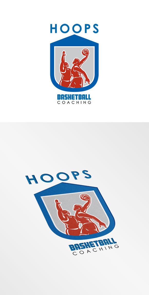 Hoops Basketball Coaching Logo