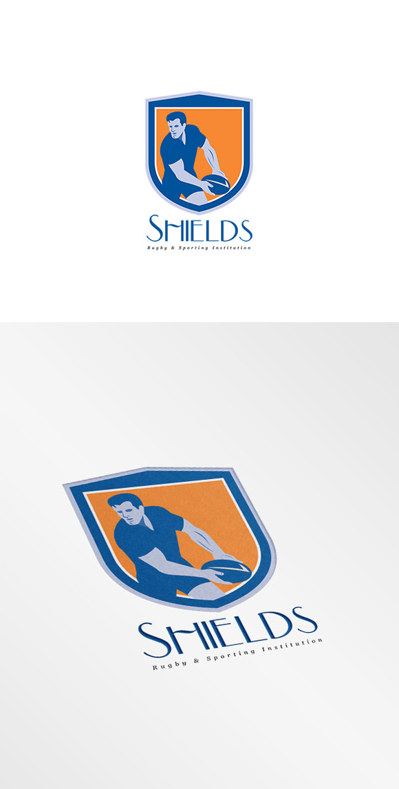 Shield Rugby Sports Logo