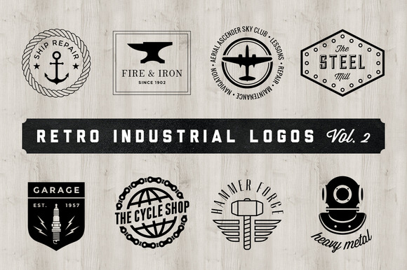 Retro Industrial Logos Volume 2