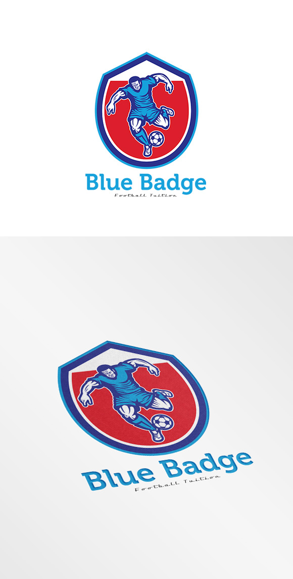 Blue Badge Football Tuition Logo