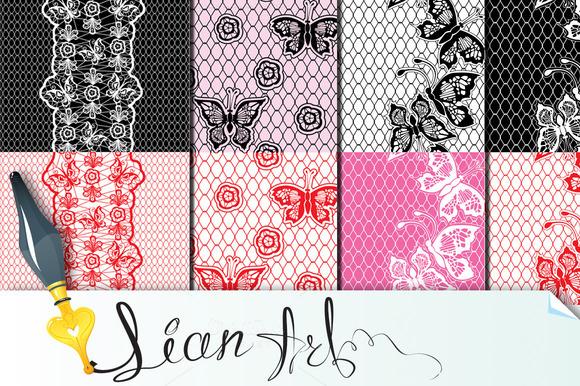 Set Of Lace Seamless Patterns