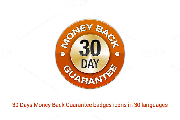30 Days Money Back Guarantee Badges