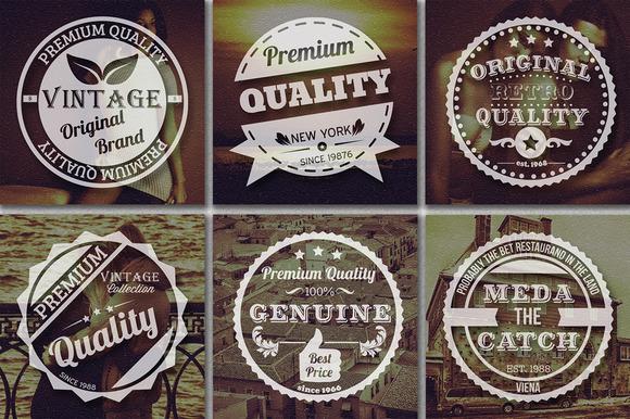 Premium Vintage Badges
