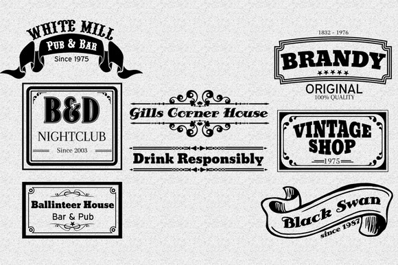Vintage Logotype Labels Vol.2
