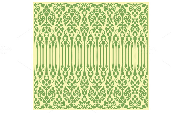Seamless Vine Pattern In Oriental St