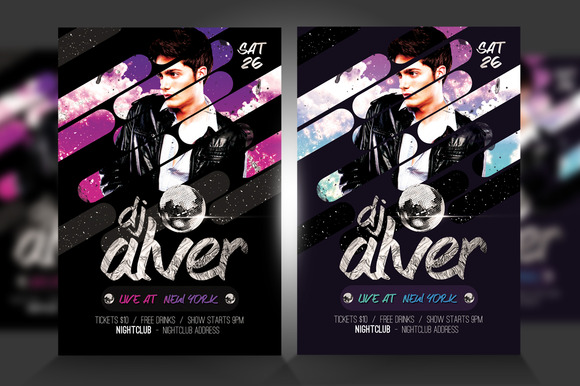 Live DJ Flyer Template PSD V3