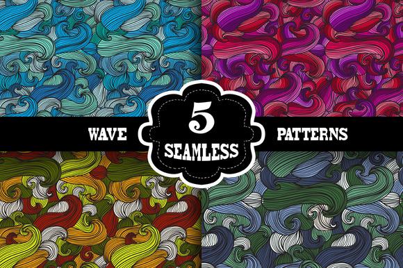 5 Wave Seamless Patterns