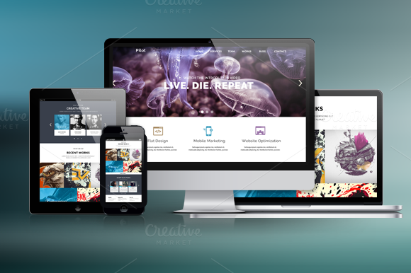 Pilot One Page PSD Template