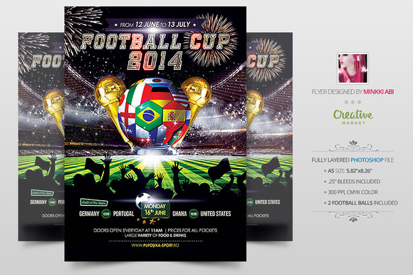 Football Cup 2014 Poster Flyer