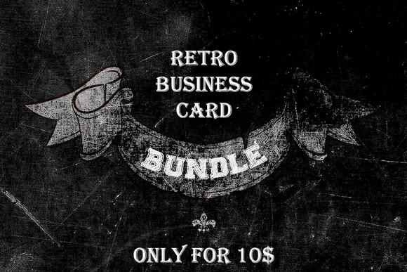 5 Retro Business Card Bundle