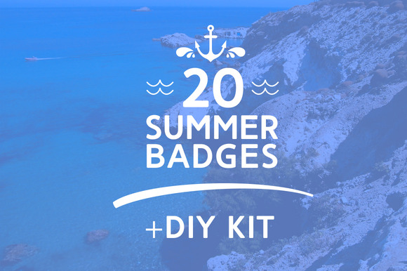 Summer Vintage Badges DIY Kit
