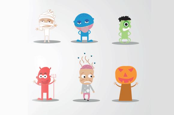 6 Vector Halloween Characters