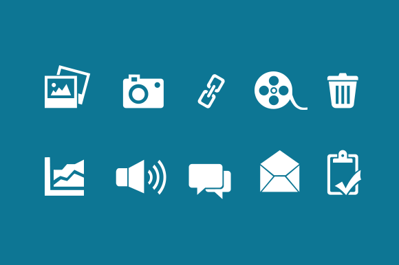 Digital Media Icon Set