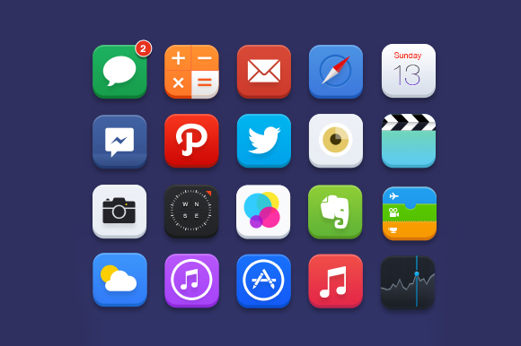 20 Custom IOS Icons