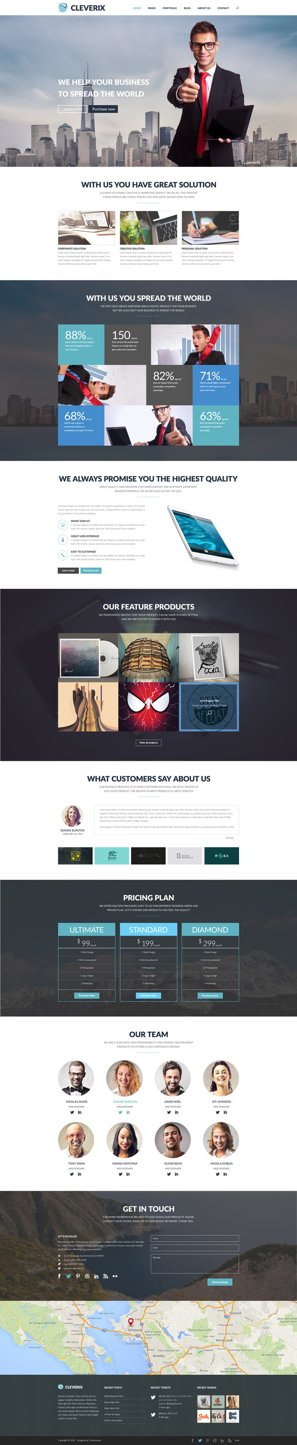 Cleverix Corporate PSD Template