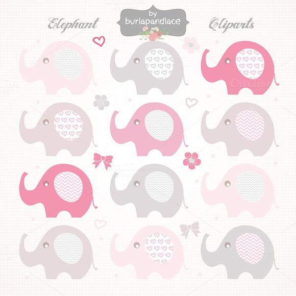 Baby Girl Elephant Cliparts
