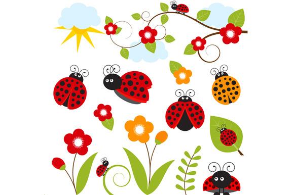 Digital Ladybug Clip Art