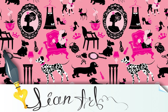 Seamless Pattern With Glamour Access