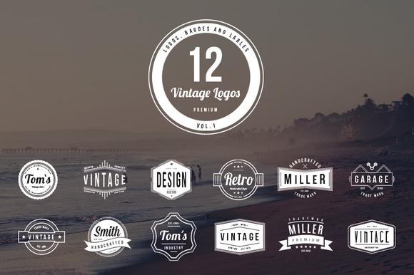 12 Vintage Logos Vol 1