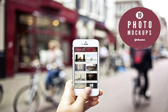 10 Urban Photo Mockups IPhone 5s