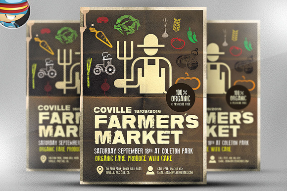 FarmerЎЇs Market Poster Template