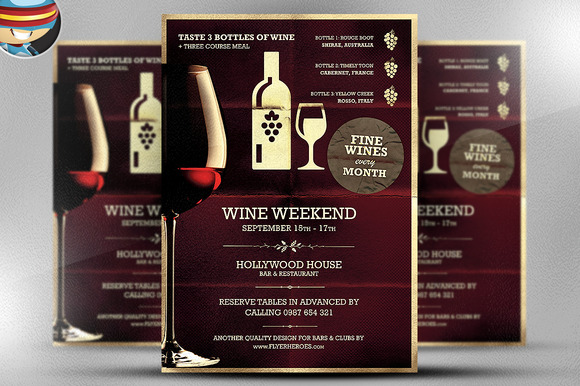 Wine Night Poster Template