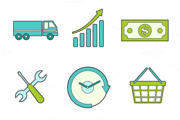 Business Icons For Commercial