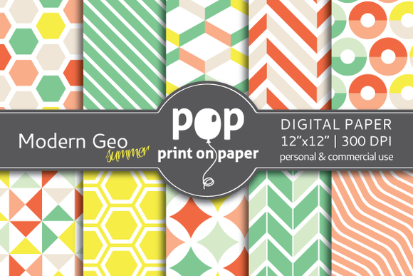 Modern Geometric Summer Digitalpaper