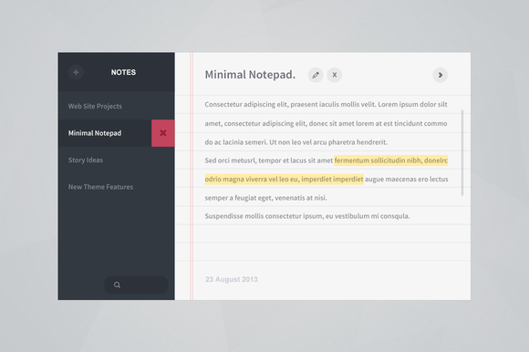 Notepad App Interface