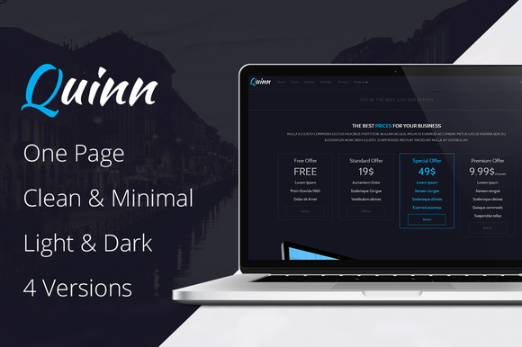 Quinn One Page Business Template