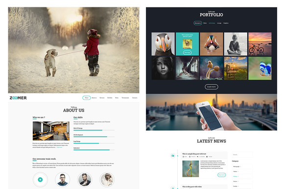 Zoomer PSD Website Template