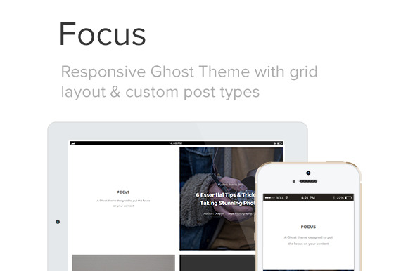 Focus Responsive Grid Ghost Theme
