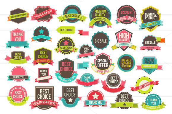 Collection Labels And Ribbons