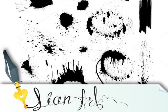 Set Of Blots And Ink Splashes #1