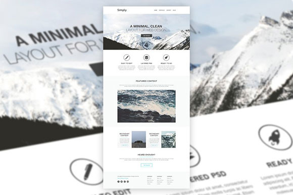 Simply Minimal PSD Website Template