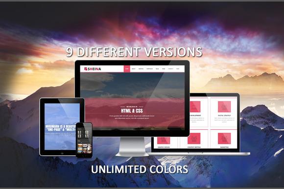 Sheina Bootstrap Multipurpose HTML