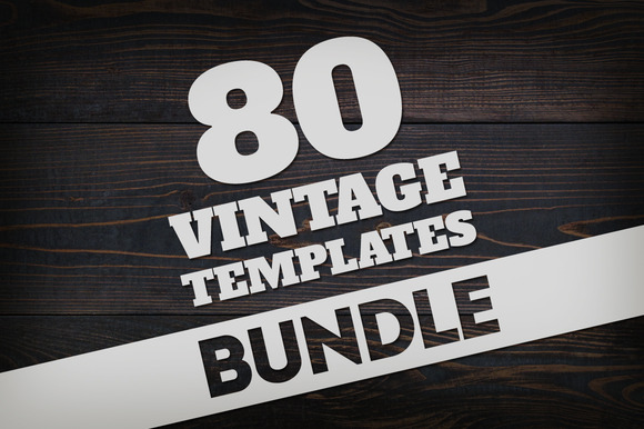 Bundle 80 Vintage Logos Badges