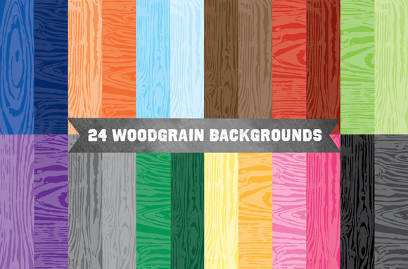 Vector Woodgrain Pattern Background