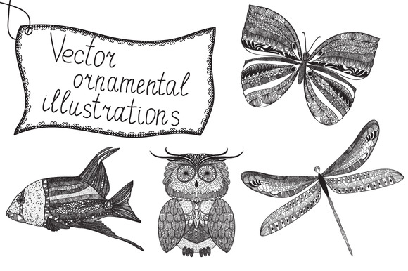 Vector Ornamental Illustrations